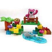 Little Treasures Happy Bear Amazing Building Block Toy