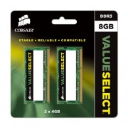 Corsair CMSO8GX3M2A1600C11 Value Select Memoria da 8 GB (2x4 GB), DDR3, 1600 MHz, CL11