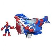 Playskool Heroes Marvel Super Hero Adventures Stunt Wing Spider Plane with Spider-Man