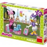 Puzzle - Minnie si Daisy la Paris 24 piese