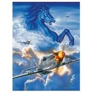 Master Pieces P-51D Mustang Horsepower 550 Piece Jigsaw Puzzle
