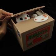 1 X Money Bank /Coins Bank /Piggy Bank /Saving Box(Stealing Steal Money Cat Gift/2012 New Bonus Pack)