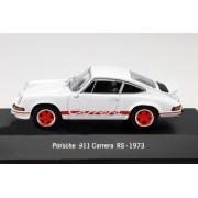 Porsche 911 Carrera Rs Année 1973 Blanc / Rouge 1:43 Atlas-Atlas