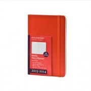 Moleskine 2014 Planner 18 Month Weekly Horizontal Red Large