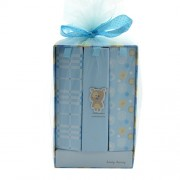Set 3 albume albastre model carte invelite in plasa