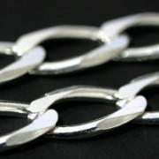 Corrente de Prata 925 de Elos 50cm / 1.1cm