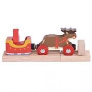 Bigjigs Rail Santa Sleigh with Reindeer Train Set