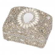 Bewaardoosje zilver Indiaanse stijl 8 cm