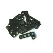 LEGO Bricks 32140 Technic - Viga en L (2 x 4 agujeros, 10 unidades), color negro