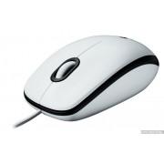 Mouse, LOGITECH M100, USB, White (910-001605)