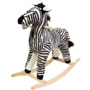 Happy Trails Zebra Plush Rocking Animal