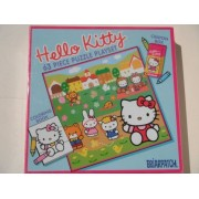 Hello Kitty 63 PIECE PUZZLE PLAYSET (Including: 4 Crayons and a Coloring Book)