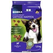 EDEKA Komplett-Mahlzeit Saftige Happen Hundefutter 1,5 kg-Beutel