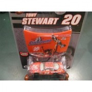 Tony Stewart Home Depot #20 Chicagoland Speedway Joliet Illinois July 15 2007 Raced Win Post Race Confetti 1/64 Scale Car Winners Circle With Bonus Victory Photo Replication Magnet Hood