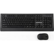 Set tastatura si mouse wireless Modecom MC-6200G German Layout