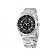 Seiko Watches Chronograph Black Dial Stainless Steel Men's Watch Black