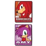 Sonic The Hedgehog Knuckles y Amy Frame (juego de 2) Pasadores