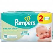 Servetele umede Pampers Natural Clean Duo 2*64buc