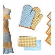 9 Piece Apron Set (Gingham)