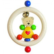 Heimess Clutching Heart bear with Cloche Baby Toy