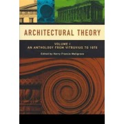 Architectural Theory: Anthology from Vitruvius to 1870 v. 1 by Harry Francis Mallgrave