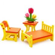 Imported 3D Diy Dolls House Assembly Furniture Toys-Bedroom Kit