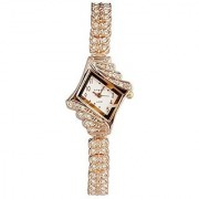 ShoppeWatch Ladies Crystal Bling Watch Rose Gold Tone Bracelet Petite White Dial Reloj De Dama SW9097RSWH