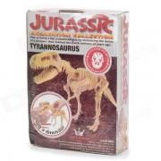 BWL-01 Tyrannosaurus Dinosaur Skeleton Modelo Excavacion Arqueologia Toy Kit - Blanco