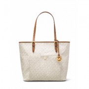 Michael Kors Jet set item large top zip pocket tote, Neutral