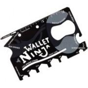 Shadow Fax Star Magic Wallet Ninja Swiss Card 18 in 1 Tool 18 Swiss Army Card(Black)