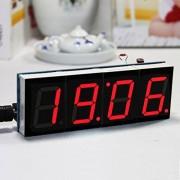 Generic Diy 4 Digit Led Electronic Clock Kit Temperature Light Control Version(Red & Case)