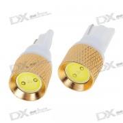 T10 1.5W 12V White Light LED Car Turning Signal Light Bulbs (2-Pack)