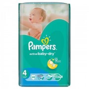 Scutece Active Baby 4 Value Pack, 49 buc, Pampers