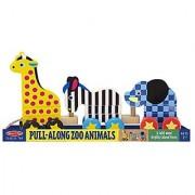 Melissa & Doug Pull-Along Zoo Animals New Born Baby Child Kid Infant