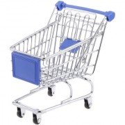 Magideal Mini Shopping Cart Trolley Toy Size M Blue