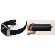 MIRZA Bluetooth Speaker (_JBL Charge K3+ Speaker) And DZ09 Smart Watch for HTC DESIRE 200