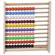 Skillofun Wooden Standard Abacus (10-10), Multi Color