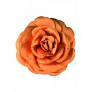 Оранжева брошка Роза