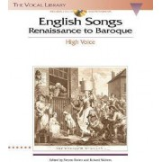 English Songs: Renaissance to Baroque by Hal Leonard Corp