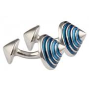 Mousie Bean Enamelled Cufflinks Cone 114 Blue