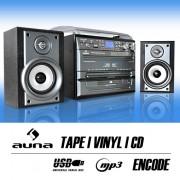 Impianto hifi cd giradischi vinile cassette mp3 sd usb