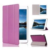 Apple iPad Air 2 - Fold Stand Smart Case Leather Book Hoes voor bescherming voor- en achterkant - Kleur Paars