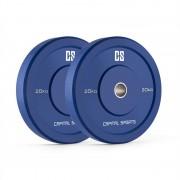 Capital Sport Nipton Bumper Placi Greutate cauciuc greu albastru 20 kg