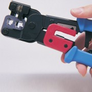 Cleste pentru sertizat cablu Cleste de sertizare cu clichet conectori RJ11 si RJ45