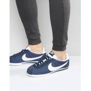 Nike Темно-синие нейлоновые кроссовки Nike Classic Cortez 807472-410