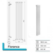 Boss Designradiator Boss & Wessing Floranca 1800 x 322 mm (12 kleuren)