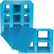 Premium Big Briks Sky Blue Baseplate Tower Construction Set - 96 Pack Bundle (Big LEGO DUPLO Compatible) - Large Pegs