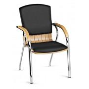 Cadeiras de Escritório Visitante Com Braços Direcção DIVA-4P/BC