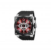 Stuhrling Xtreme Men's 321.33164 Raven Crossfire Quartz Chronograph Red Dial Watch