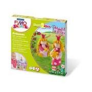 Gyurma készlet, 4x42 g, égethető, FIMO Kids Form & Play, hercegnők